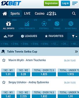 1xbet mobile screenshot