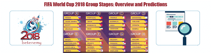 2018 fifa world cup - group stages