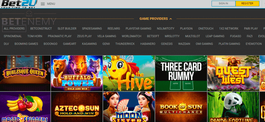 Bet2u Casino Review 2020 Enjoy Casino Slots Live Dealers