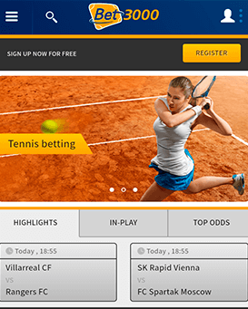 Bet3000 mobile application