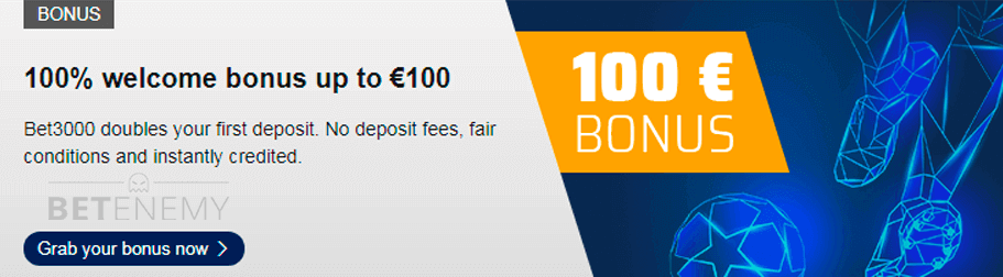 Bet3000 welcome bonus
