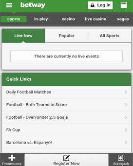 betway mobile application