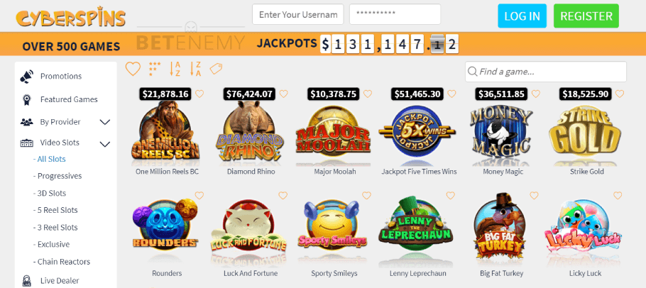 CyberSpins Casino Games