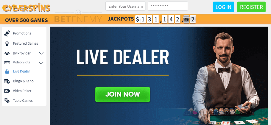 CyberSpins Casino Live Games