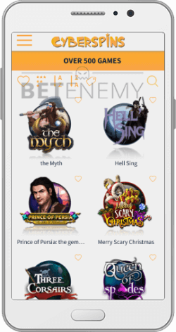 CyberSpins Casino Mobile Version