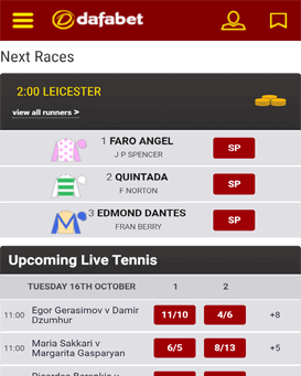 dafabet mobile app for Android and iOS