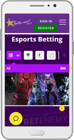 Hollywoodbets Esports Betting on Android