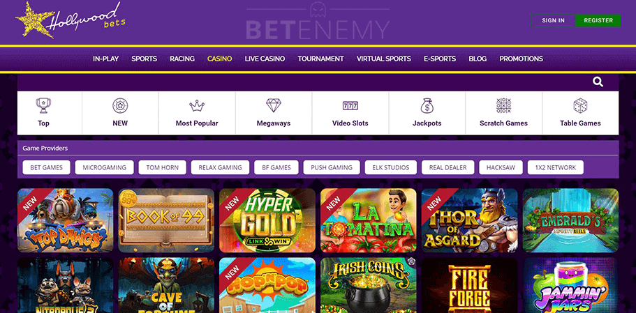 Hollywoodbets Casino Games