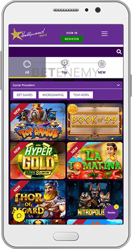 Hollywoodbets Casino Mobile Version