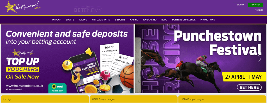 hollywoodbets homepage