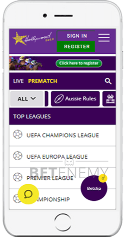 Hollywoodbets Football Betting on iOS
