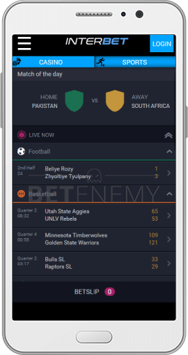 Interbet app for Android