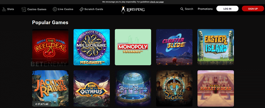 Lord Ping casino site