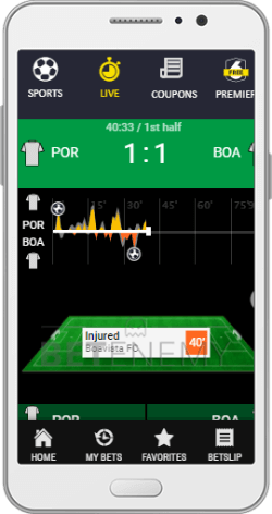 Ogabet mobile In-Play