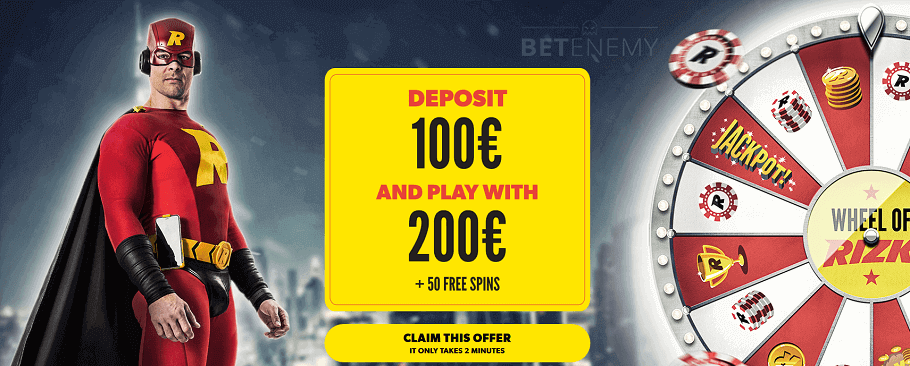 Signup offer by Rizk casino