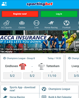 Sportingbet mobile application